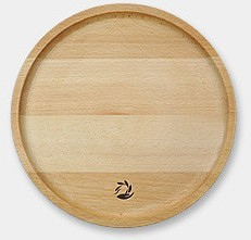 11 Inch natural wooden round <strong>plate</strong> ,pizza <strong>plate</strong>