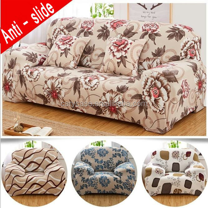 100% Polyester Reversible Sofa Protector cover With Elastic Strap Protect Your Furniture