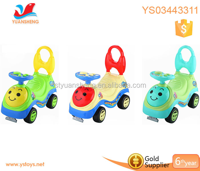 Smiling face kids electric walkers toys riding cars baby music baby ride on car