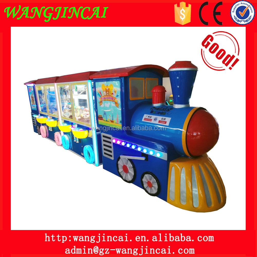 coin operated grabbing plush toys doll game machine world tour olala little train crane claw amusement gift machines