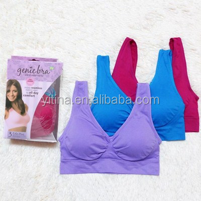 Wholesale As seen on tv Padded Sport Bra Ahh Seamless Genie Sport Bra with pads