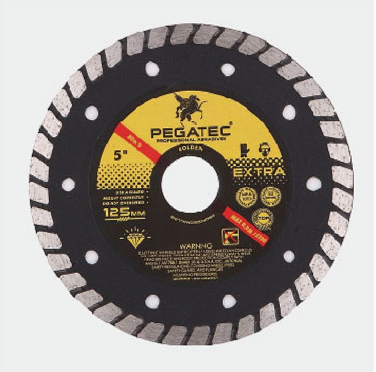 "7"" Turbo Diamond Blade Wet & Dry Tile Saw General Concrete Marble Masonry Brick"
