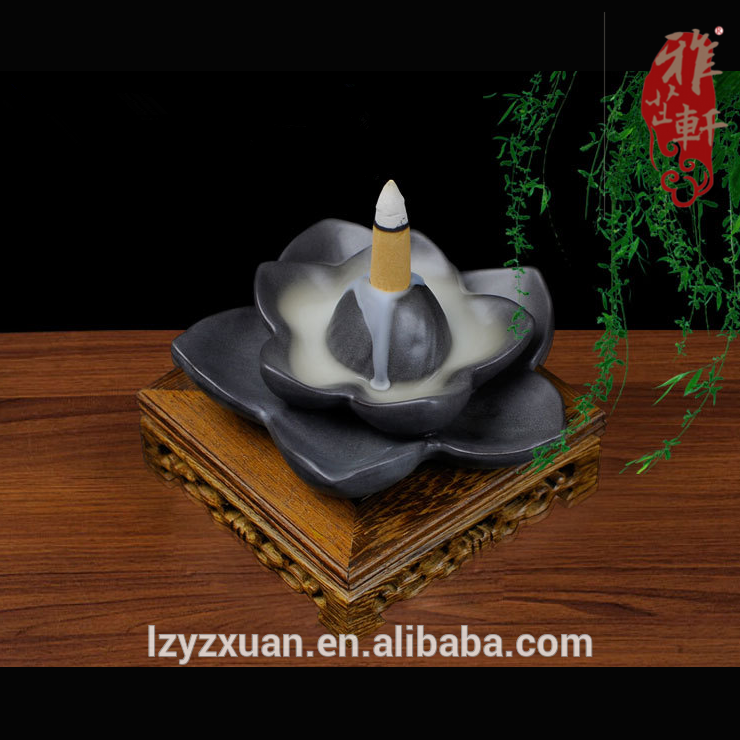 Lotus Pottery Excellent Quality Trending Products Back Flow Incense Burners