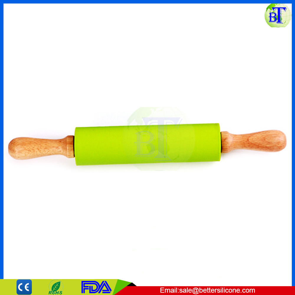wholesale adjustable wood rolling pin decorative engraved silicone french rolling pin