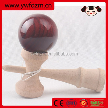 FQ brand wholesale high quality bronze plain wooden kendama toy