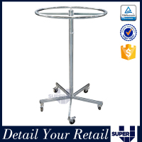 clothing store metal rotating display turntable stand