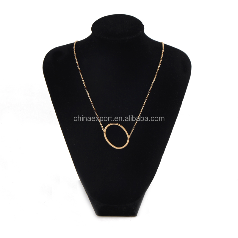 New arrival yiwu sunshine jewelry letter O gold chain necklace design