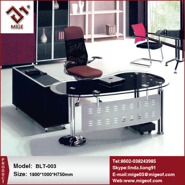 Executive Office Glass Chrome Desks