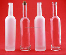 500ml machine made glass bottles Frosted bottles vodka bottles with cork