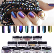 Hot sale chameleon nail powder mirror effect pigment for nail
