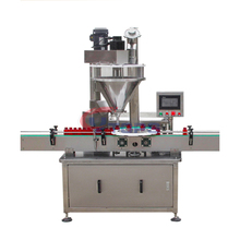 Hot Sales Automatic Filling Machine Powder / Milk Powder Packing Machine for Tin Cans Jars Round Bottles Vtops