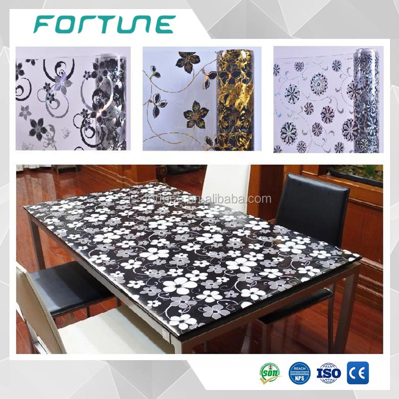 plastic pvc laminated clear printed sheets for table mat