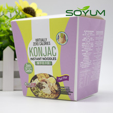 low-calorie shirataki konjac cup noodles with seasoning