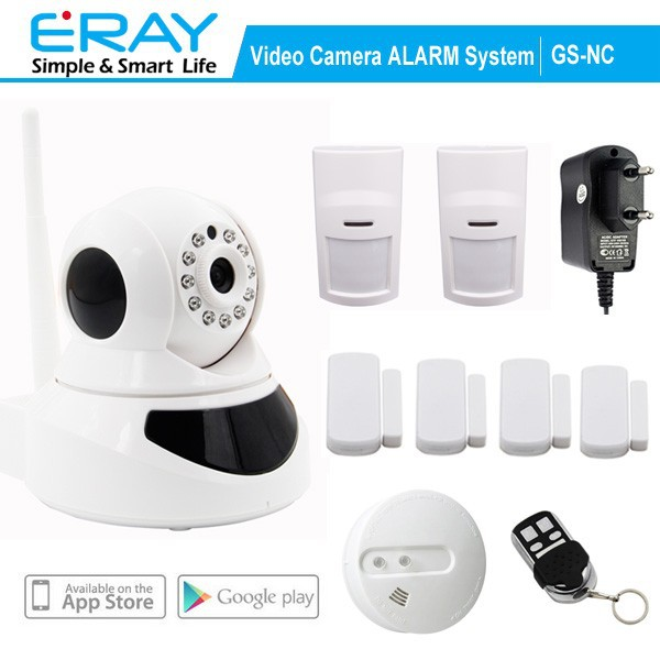 P2P WIFI View Indoor wireless IP camera support APP+Fire <strong>Alarm</strong>+Motion Detector