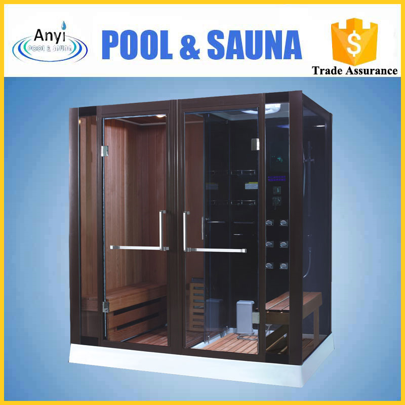 Portable 2 Person Outdoor Dry Sauna Wet Steam Shower Room For Sale