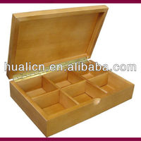 Antique Custom Made Wooden Tea Box