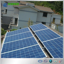 Home solar panel roof mounting system