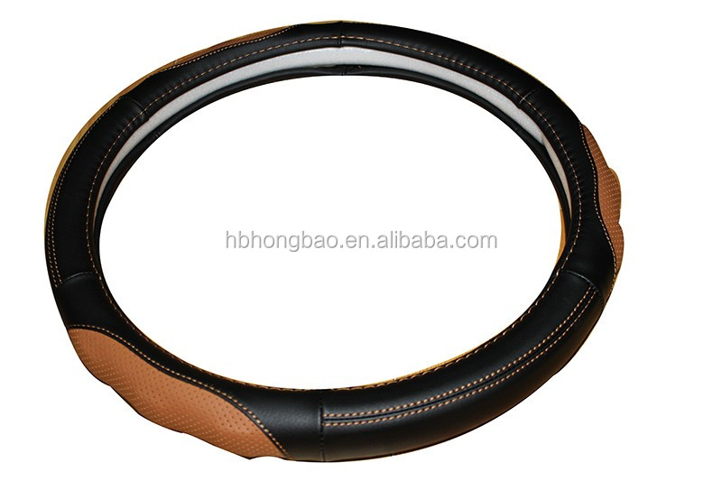 heated real leather auto steering wheel cover