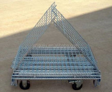 Foldable Steel Wire Container Steel Wire Mesh Cage