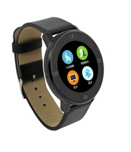2016 Newest Design Real Leather Smart Bluetooth sync Watch SYNC data from your mobile phone