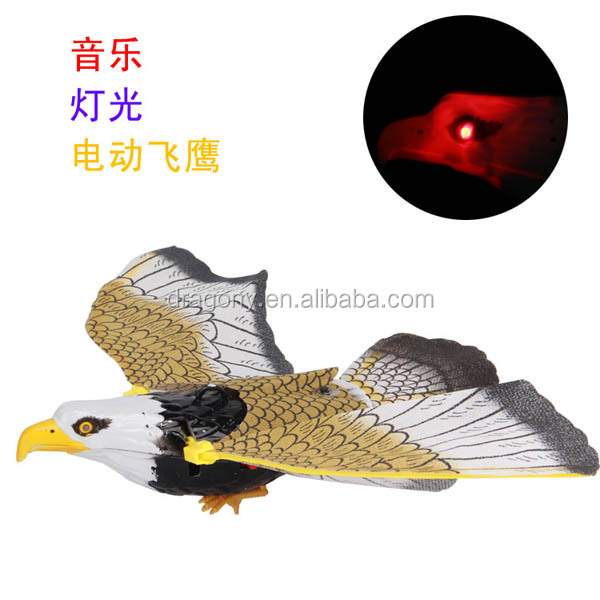 kid gift battery operated led musical flying eagle <strong>toys</strong>