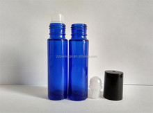 Wholesale 10ml blue/purple glass roll on bottle with black cap