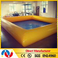 2015 Above Ground Outdoor Inflatable swimming water pool pvc fabric for pool for sale