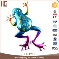 High value frog shape recycled iron crafts