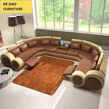 Fashionable european style recline 7 Seater Sectional Sofa set foshan China Elephant L Shaped Living Room <strong>furniture</strong>