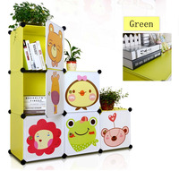 3 Layered Cabinet Style Bookcase for Baby with Cartoon Design