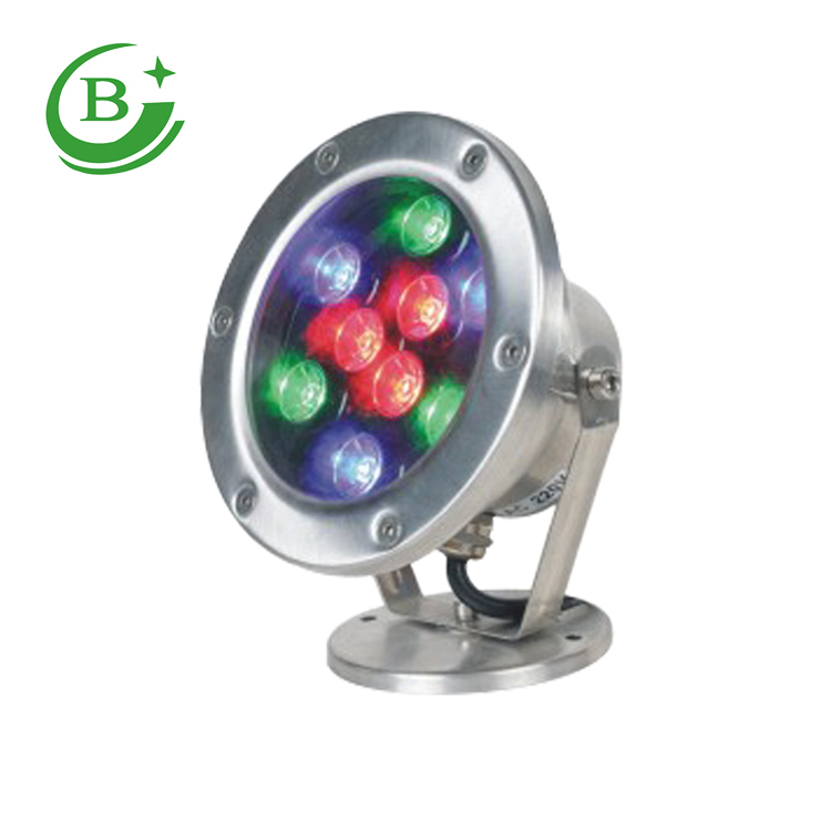 24W Red Bule Green White Color Stainless Steel 12v 24v IP68 Underwater Boat Marine LED Light