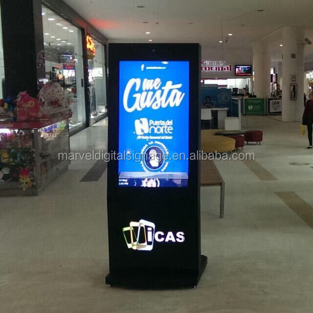 Indoor Application shopping mall advertising touch screen kiosk with A4 printer