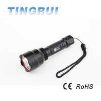 High quality waterproof square Aluminum heavy duty rechargeable flashlight with Long distance