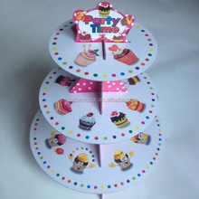 3 tier cardboard cupcake cake stand for wedding