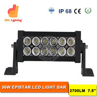 "Manufacture Factory Price4x4 7"" 36w Double row flood/combo Lamp Led 4x4 Light Bar sealed beam Epistar offroad bar light"