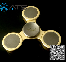 Hot selling EDC Relieve Stress colorful brass/titanium Fidget spinner Toy