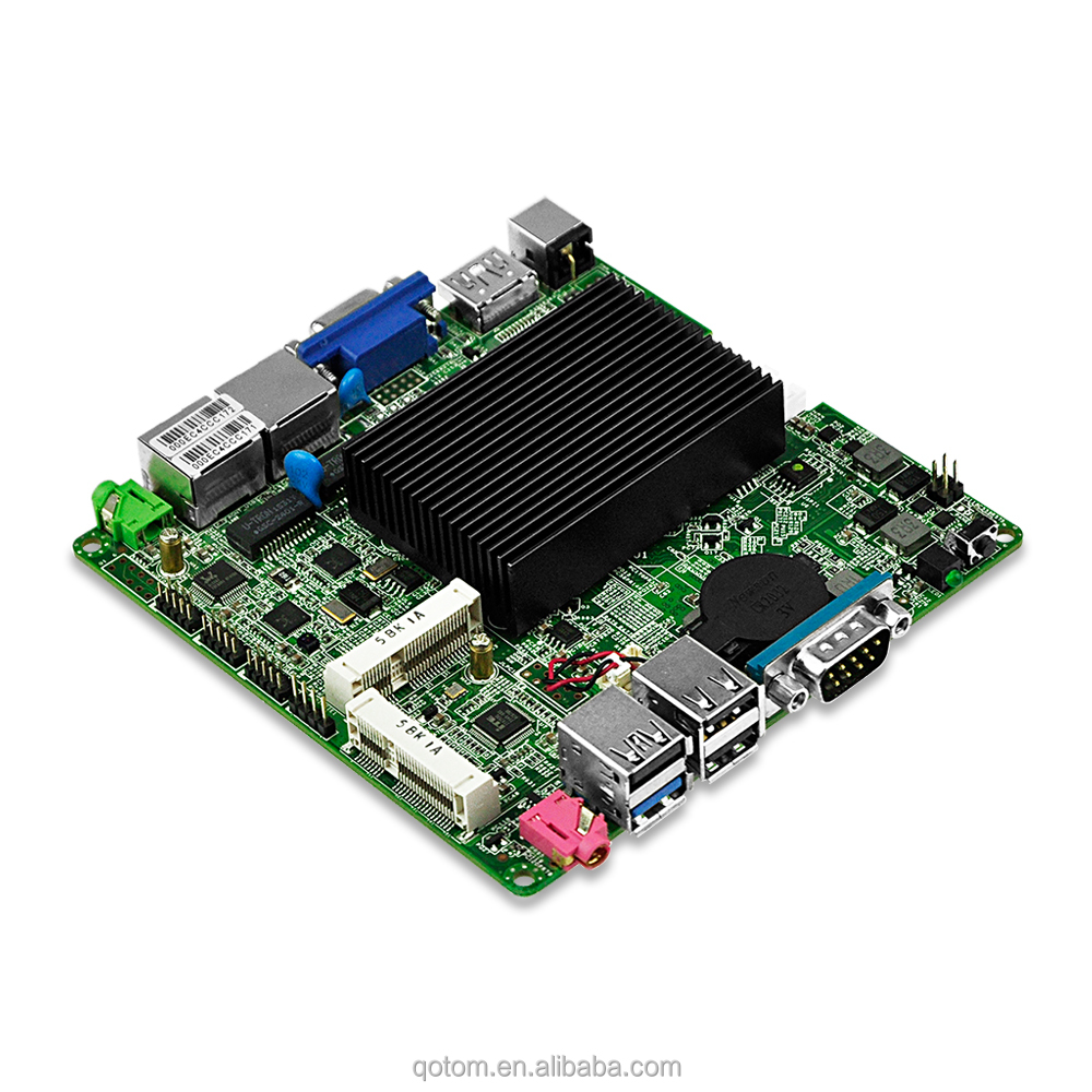 OEM/ODM Dual Lan 4*Serial ports Mini ITX Motherboard Celeron J1800 Suitable For Video Player,All In One Machine,ATM,TV BOX