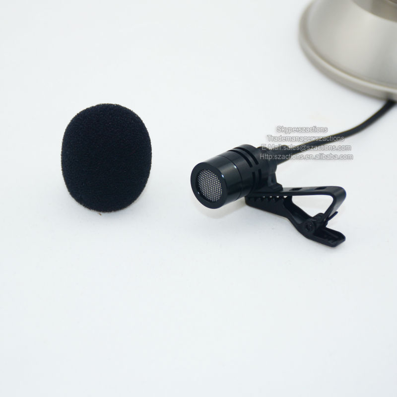 New External 3.5MM Microphone Mic Input Audio Lavalier for GoPro 2 HD HERO 3 , Professional Lavalier Microphones
