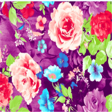 changxing wholesale polyester bedsheets fabric with colorful flower printed for india market