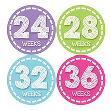 Months in Motion Pregnancy Baby Bump Belly Stickers Maternity Week Sticker