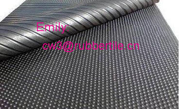 Anti slip rubber matting