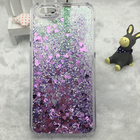 Liquid Glitter Sand Quicksand Star Mobile Phone Case For Iphone 5 Crystal Clear Hard Cellphone Back Cover For iphone 5