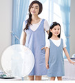 mother and daughter matching outfits light blue jeans dress fresh simple summer latest