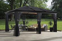 solid polycarbonate roof hard top aluminum gazebo 12x16ft