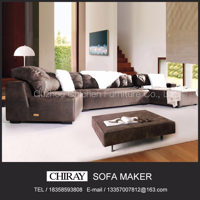 latest designed living room or office furniturer with italian style fabric sectional sofa