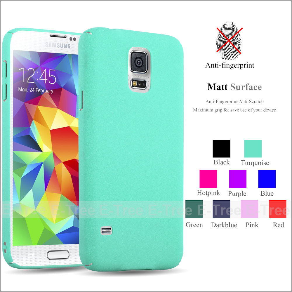 Full Cover Ultra Slim Forsted hard PC Matte Colorful Phone Case Back Cover For Samsung S5