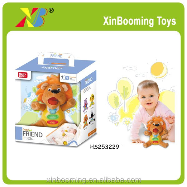 baby gift musical confort lion doll toys