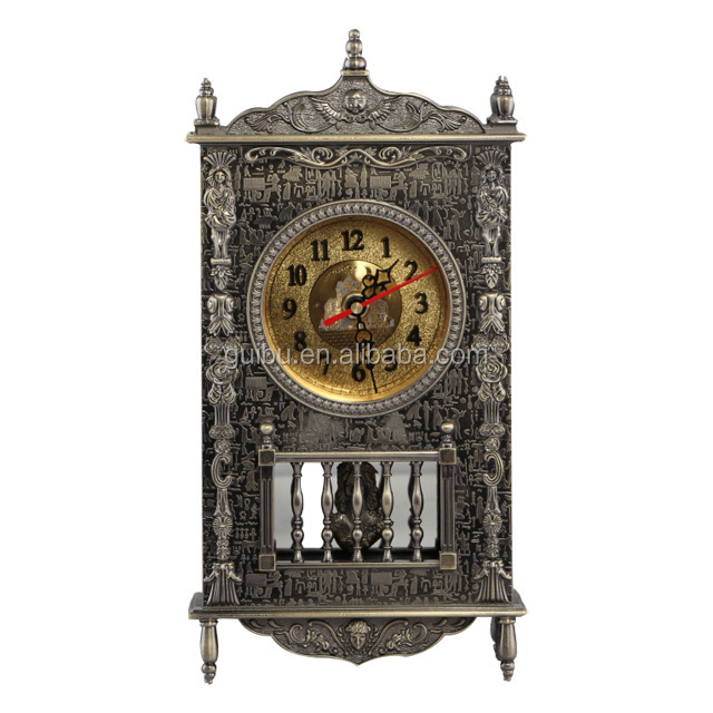 European Model Antique Skeleton Metal Table Clock for Gift