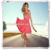 2012 New Style Chiffon Bridesmaid wedding dress Evening party formal A-line prom dress