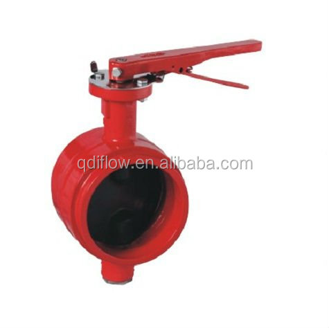 Grooved End Butterfly Valve with Lever Operator